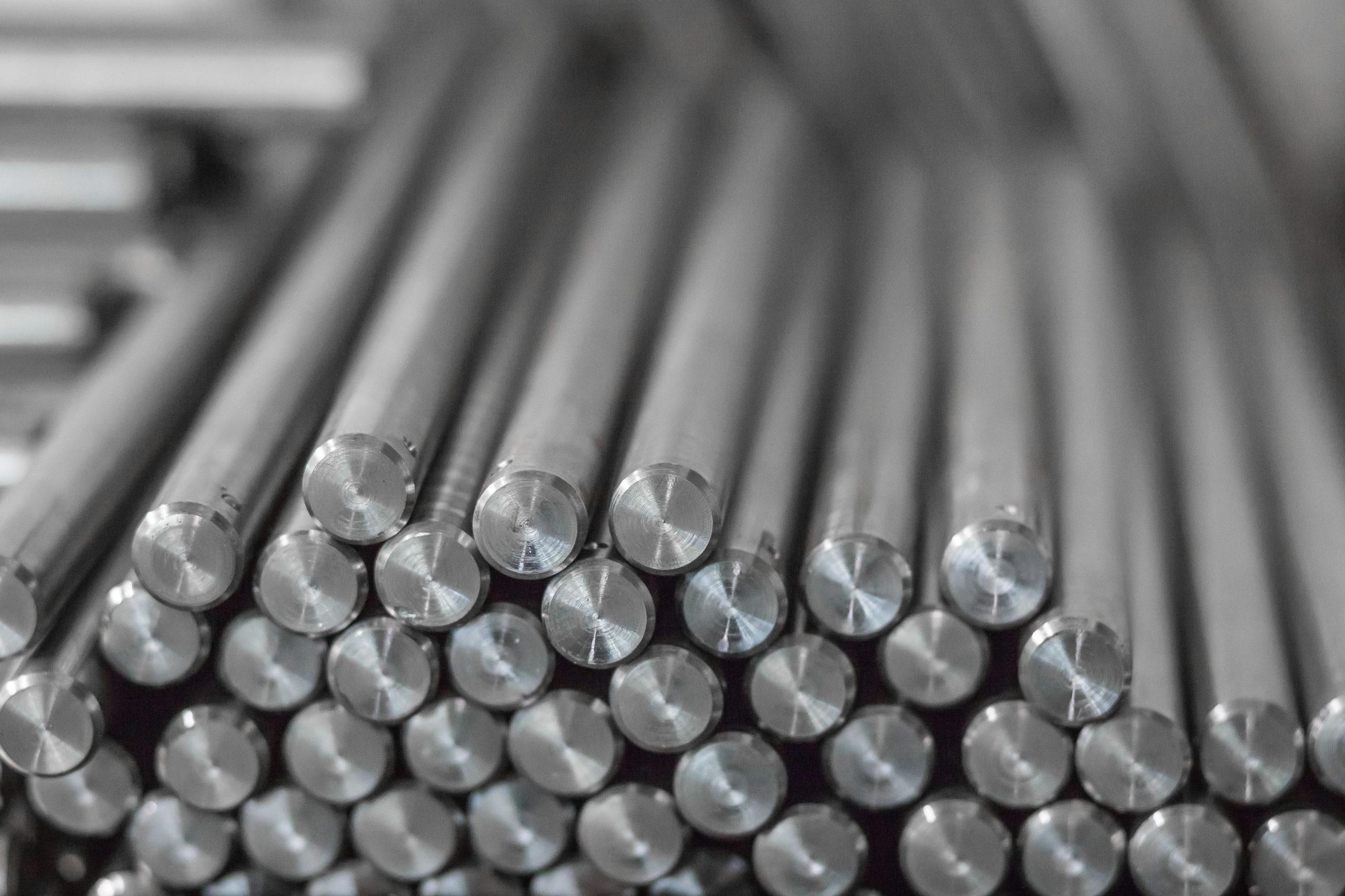 metal bars, chrome plated